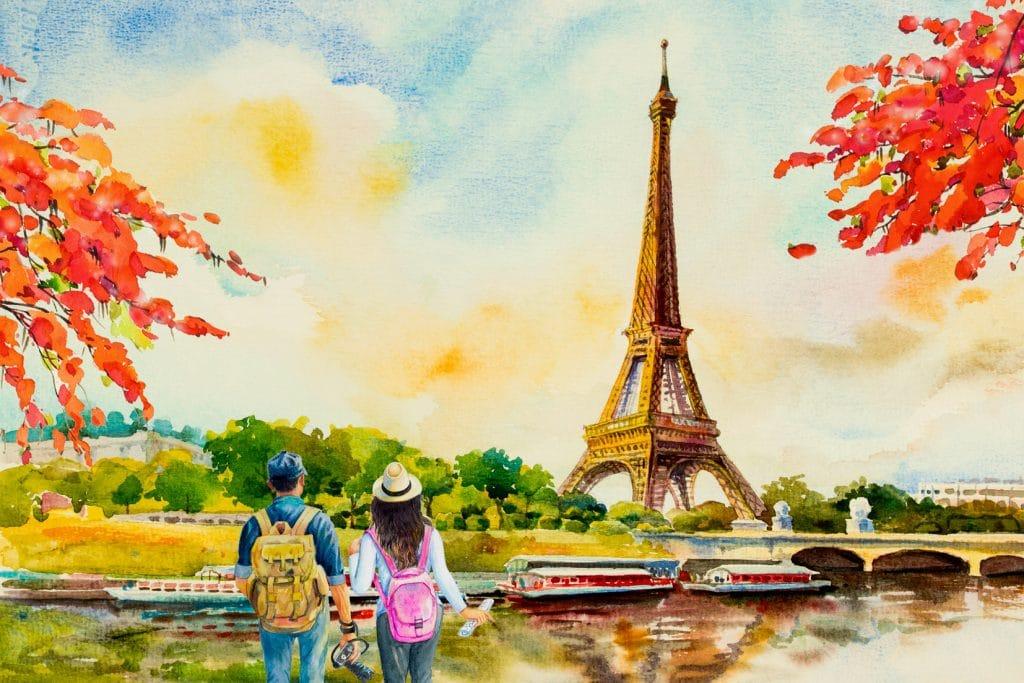 Städte der Liebe machen - Paris oder Venedig