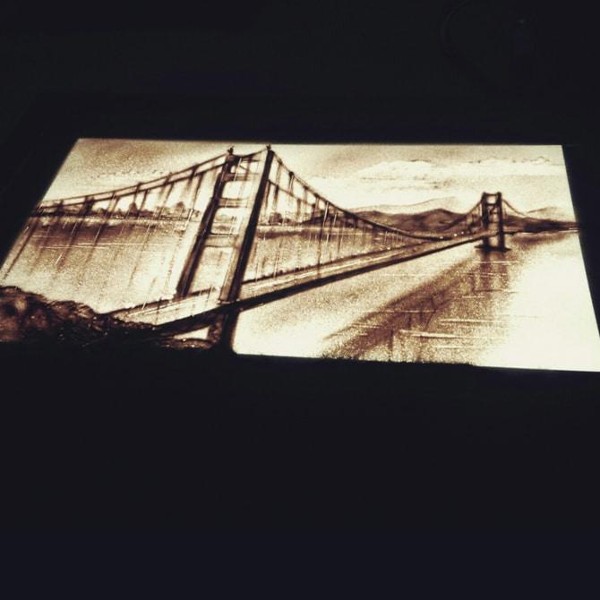 Sandmalerei Show